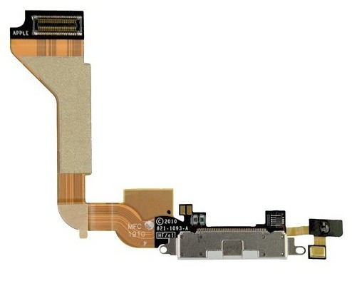 Dock Connector Charging Port Flex Cable for iPhone 4 4G White