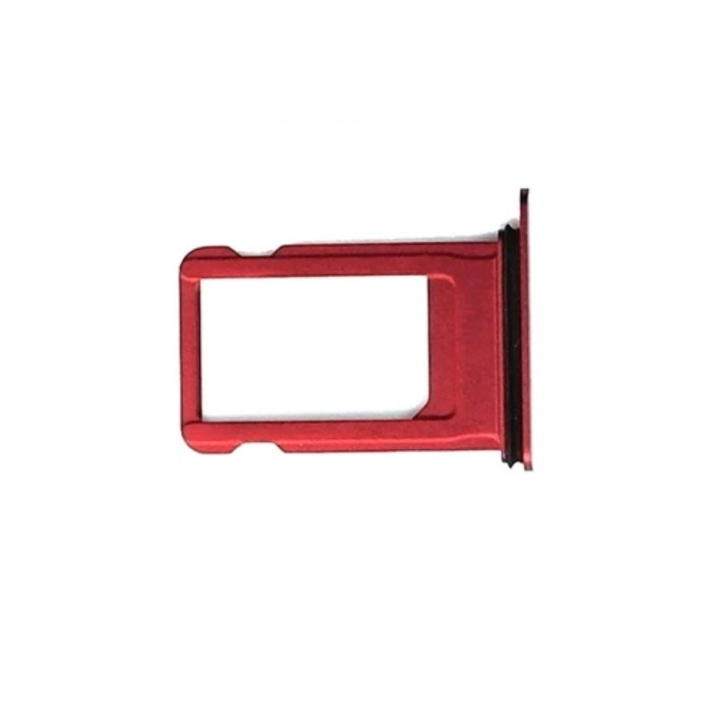 Nano Sim Card Tray Holder Replacement for iPhone 8 Red