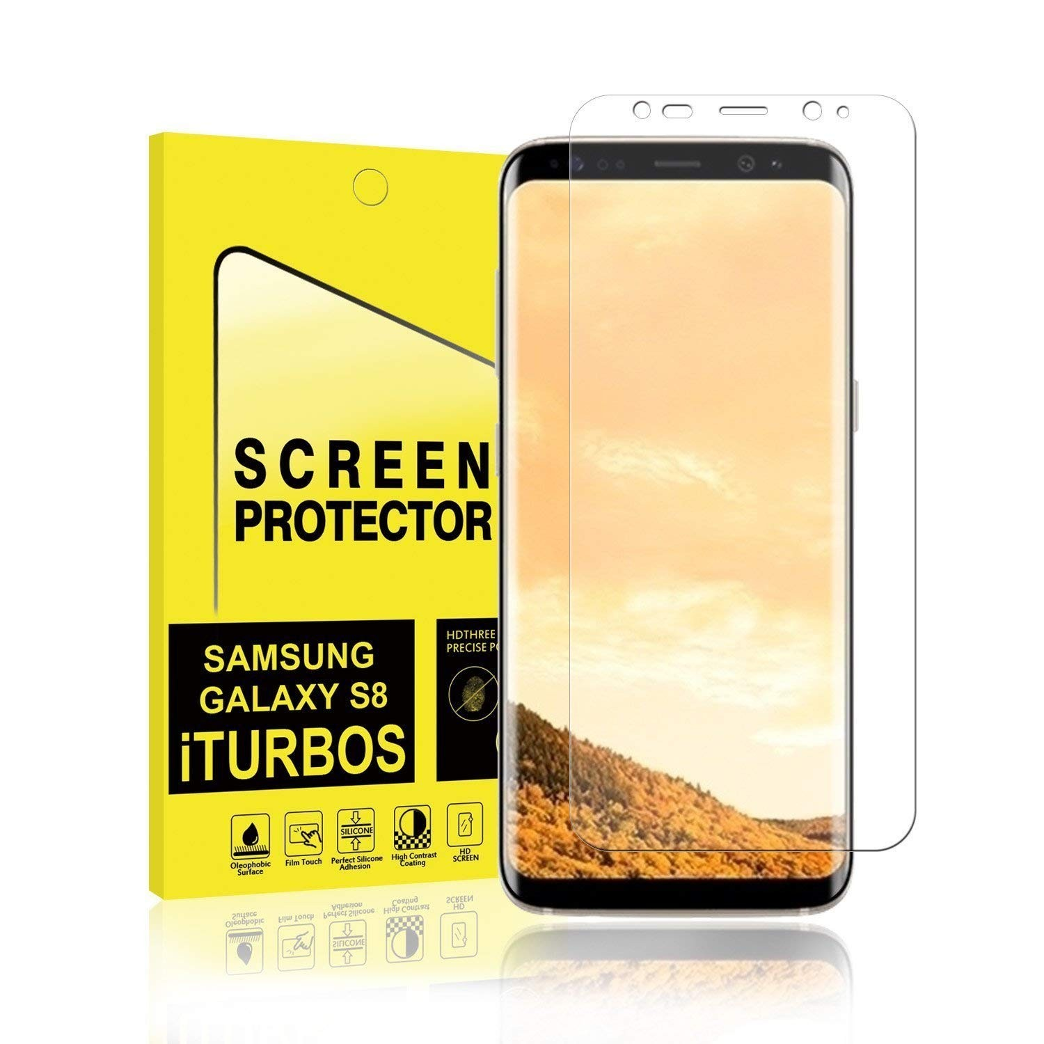 TPU Gel Screen Protectors Film Cover LCD Guard for Samsung S7