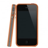Orange & Clear Bumper Case for iPhone 4 4S