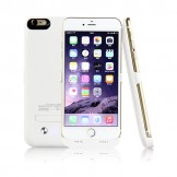 4200mAh Portable Charger Case External Battery Power Bank iPhone 6 Plus White