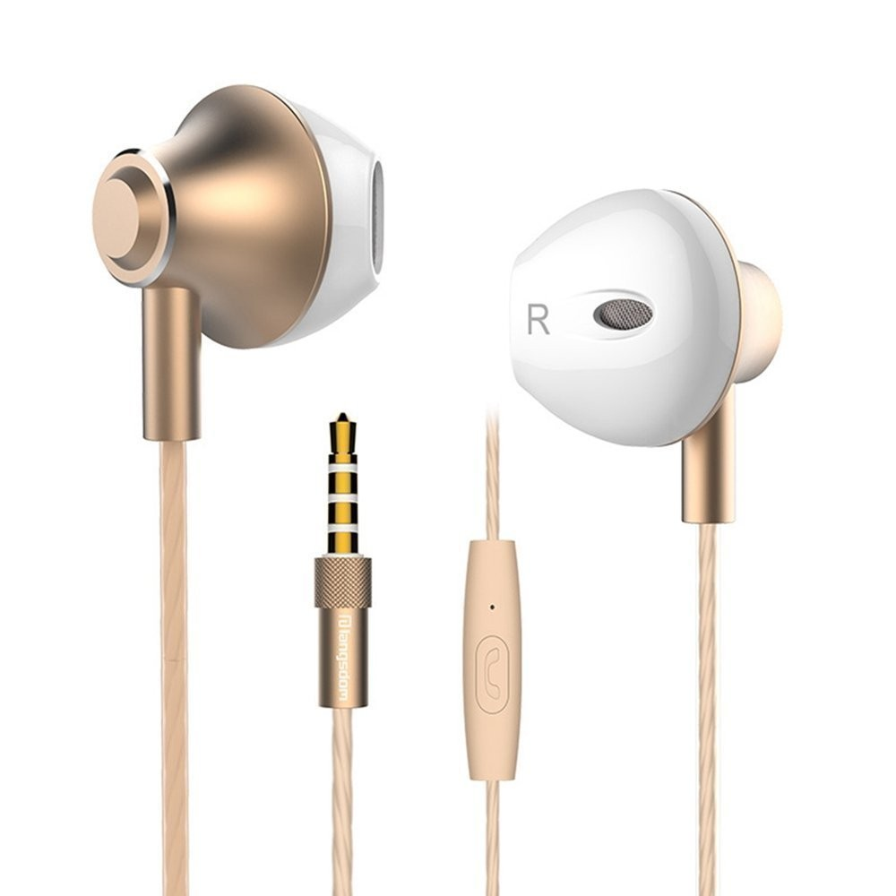 Langsdom M420 Noise-Cancelling High Performance Headphones - Gold