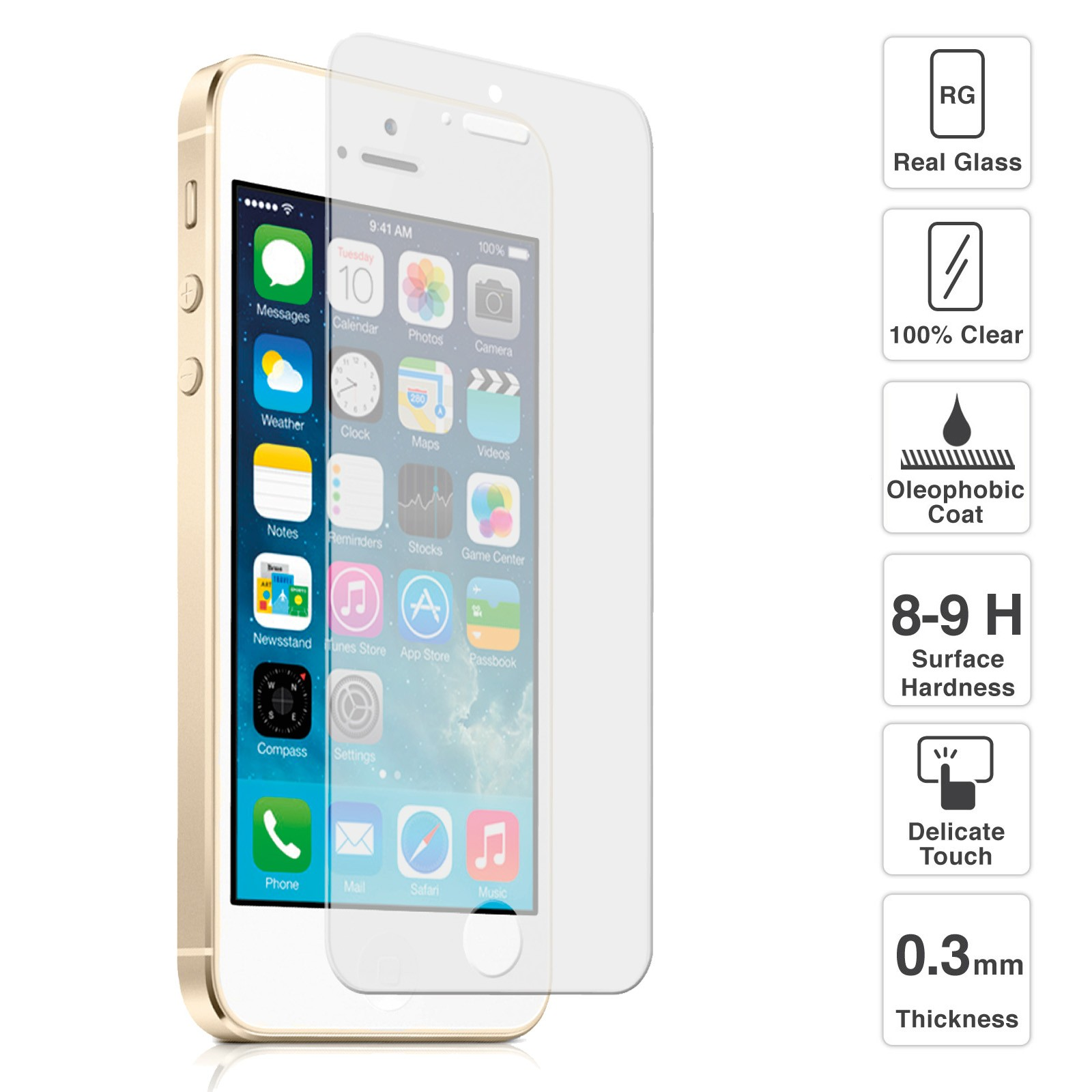 tempered glass iphone 5s premium quality tempered glass screen protector for iphone 16256