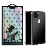King Kong Shockproof Clear Back Silicone Gel Bumper Case for iPhone 11 Pro