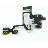 Headphone Jack Volume Switch Flex Cable for iPhone 4 4G White