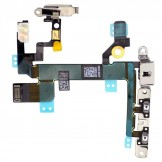 Volume Power Mute Switch Flex with Metal Brackets Replacement for iPhone SE