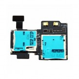 SD Sim Card Reader Holder Slot Flex Cable Ribbon For Samsung Galaxy S4 i9505